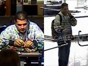 Divulgan fotos del ladrón que asaltó hoy el Banco Popular de La Rambla en Ponce