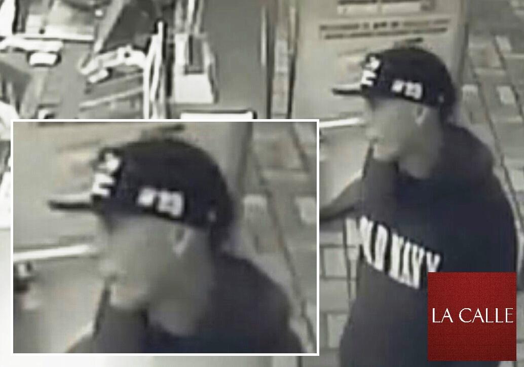 Imagen del sospechoso de haber asaltado el Burger King de Boquerón, tomada por una cámara de seguridad (Suministrada Policía).