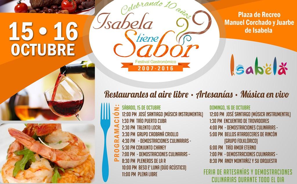 Programa de actividades de Isabela tiene Sabor para este fin de semana (Suministrada).