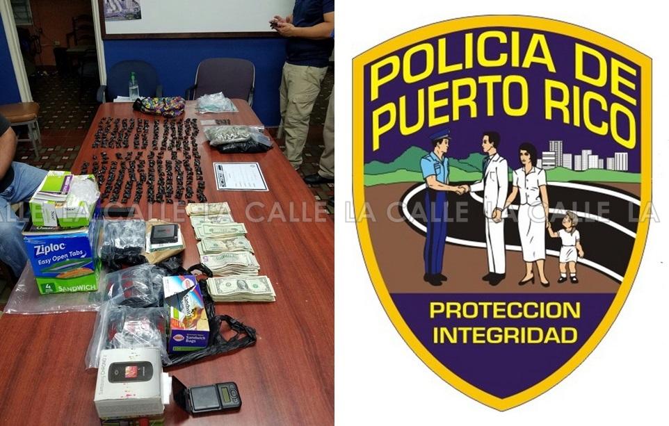 Material confiscado durante el allanamiento (Suministrada Policía).