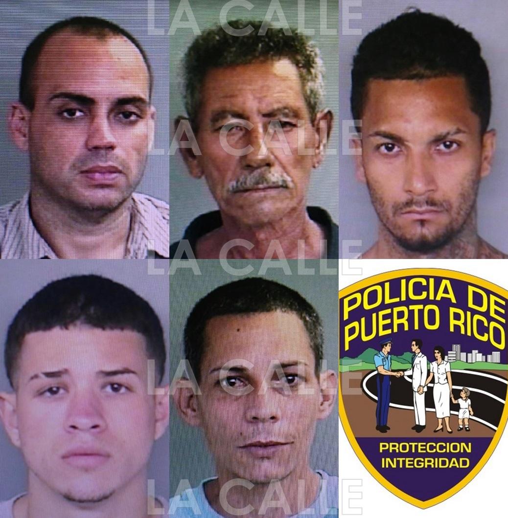 Fotos de las fichas de los arrestados en el residencial Las Muñecas (Suministradas Policía).