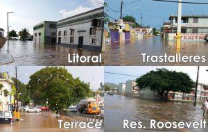 Aguaceros provocan inundaciones en Mayagüez y sectores del Oeste