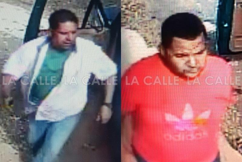 Cámaras de seguridad captaron a estos sujetos cuando hurtaban una planta eléctrica (Suministradas Policía).