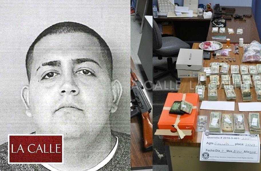 Foto de la ficha de Juan Gabriel Rivera Surita y parte de lo ocupado en su residencia (Suministradas Policía).