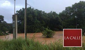 Desbordamiento del Río Culebrinas provoca cierre de carreteras en Aguada y Aguadilla
