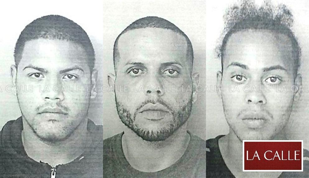 Fotos de las fichas de David Vélez Pérez, Kenneth Tirado Román y Michael Sánchez Rosa (Suministradas Policía).