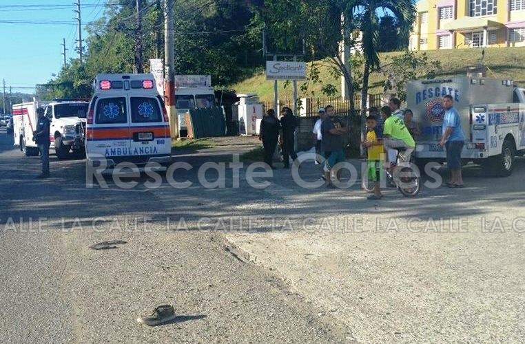 Escena del accidente ocurrido en Aguada (Foto Rescate Cortés).