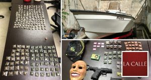 Confiscan bote, motores, drogas y un arma robada en residencia de Aguada