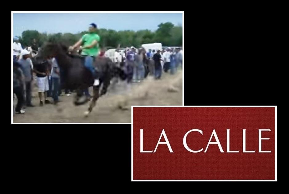 La Policía comenzó a intervenir con las carreras y plazas de caballos clandestinas en pueblos del Oeste (Foto You Tube/Montaje LA CALLE Digital).
