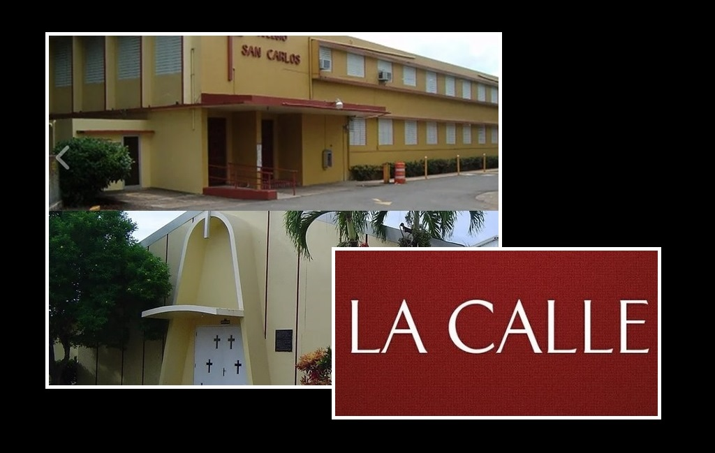 Colegio San Carlos de Aguadilla (Fotomontaje LA CALLE Digital).