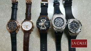 Agentes de Aduana confiscan 20 relojes de lujo fraudulentos fabricados en China