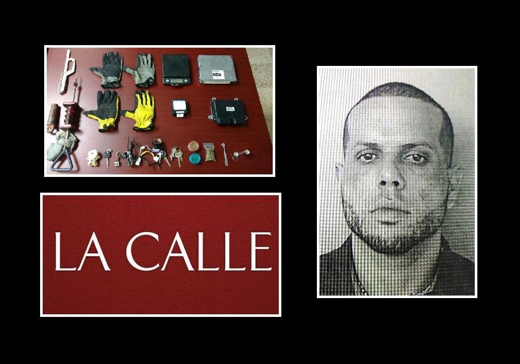 Foto de la ficha y evidencia confiscada a Kenneth Tirado (Suministradas/Policía).