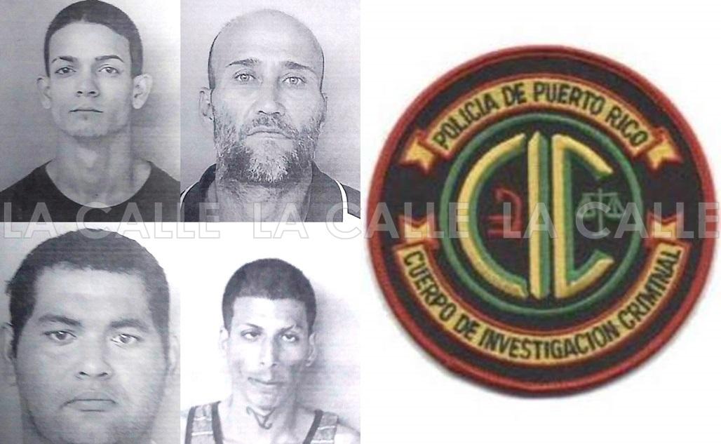 Arriba, a la izquierda, Alexander Avilés Asencio y Benjamín Suárez Urbán. Abajo, en el mismo orden, Gerardo Lugo Martínez y Juan Seda Troche (Suministradas/Policía).