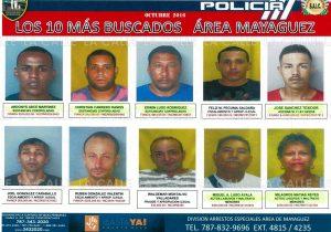 """Dan a conocer lista de los """"10 más buscados"""" en el área de Mayagüez"""
