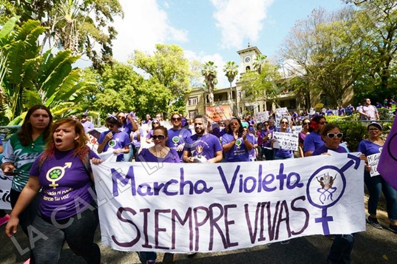 Marcha Violeta del RUM en el 2016 (Archivo/Prensa RUM).