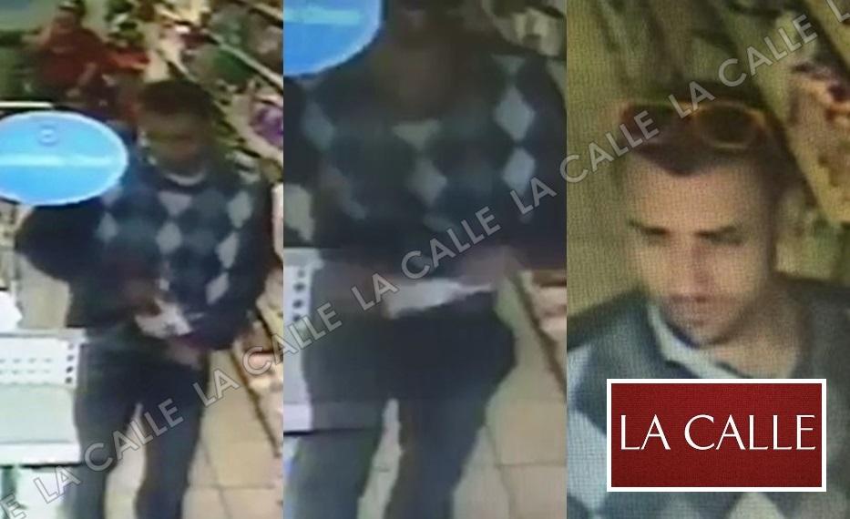 Captura de pantalla de los momentos en que el sujeto fue captado por la cámara de seguridad (Fotocomposición/LA CALLE Digital).