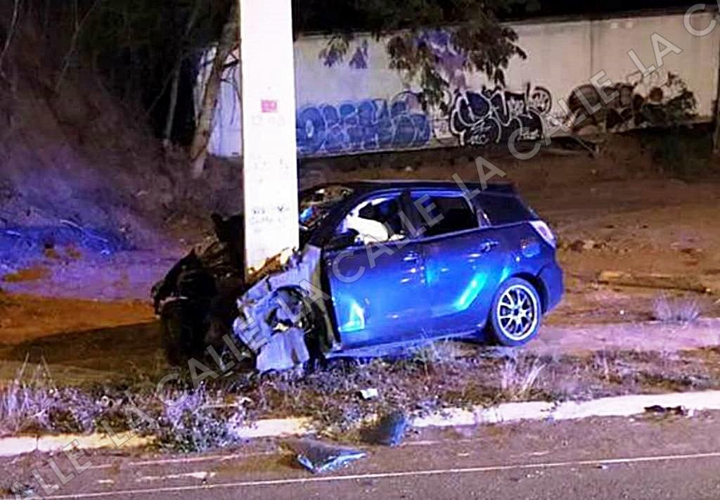 Escena del accidente ocurrido en la carretera PR-64, en el barrio Maní (Suministrada).