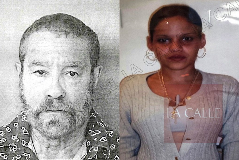 Foto de la ficha de Angel L. Robles Medina. A su lado, su presunta víctima Tania Vargas López (Suministradas/Policía).