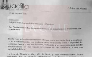 Denuncian ola de despidos en el Municipio de Aguadilla