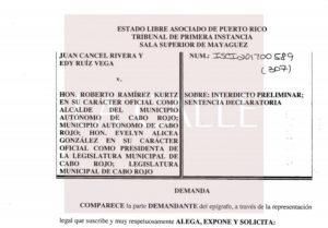 """Emplazan esta mañana al Alcalde… Radican demanda para impugnar ordenanza de """"bolsas anaranjadas"""" en Cabo Rojo"""