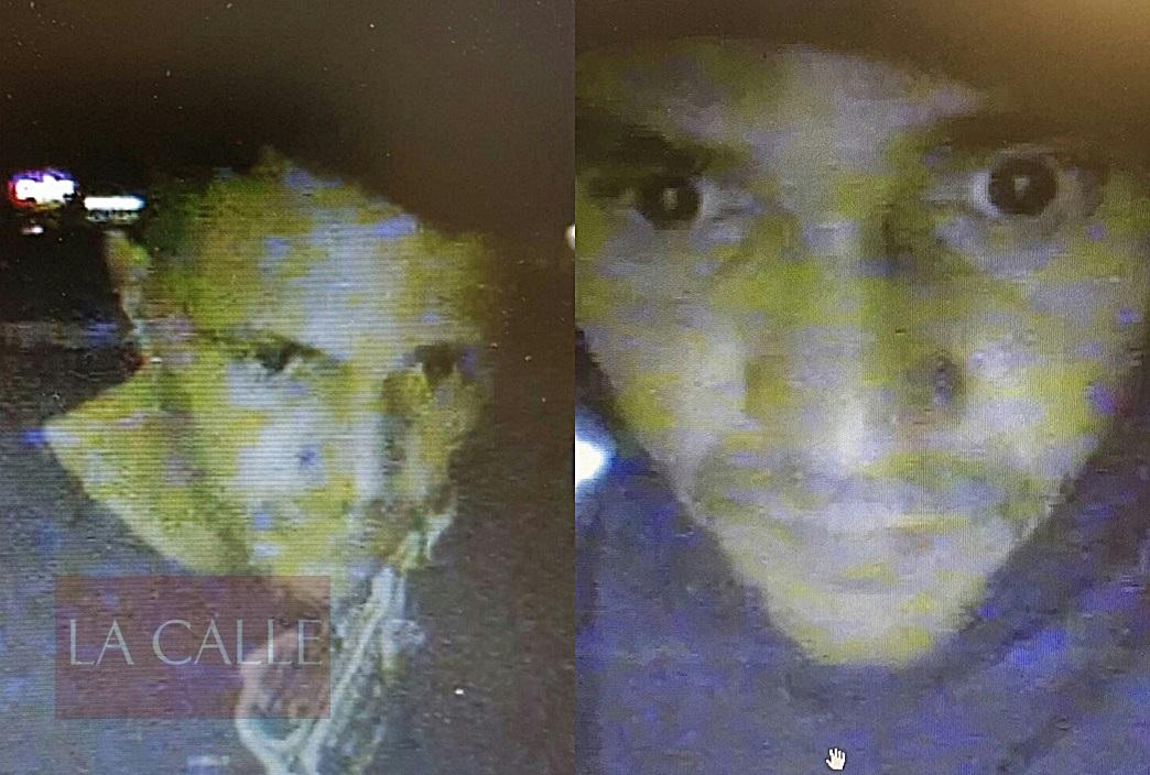 Imágenes captadas por la cámara de un cajero automático, en los momentos en que el sospechoso retiraba dinero (Suministradas/Policía).
