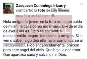 """Sospechoso asesinato de enfermera sabaneña """"pidió oración"""" por Facebook para que la encontraran viva"""