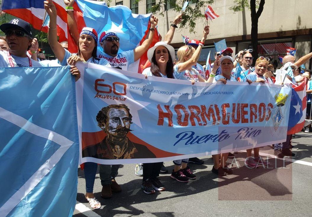 La edición de este año del Desfile Puertorriqueño se le dedicó a Hormigueros (Suministrada).
