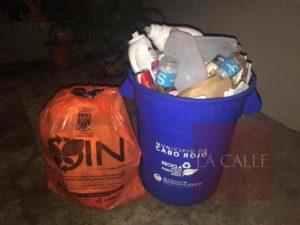 """""""Normal"""" esta mañana el recogido de bolsas anaranjadas en Cabo Rojo"""