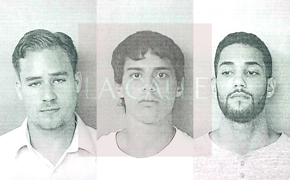 Fotos de las fichas en el orden acostumbrado de Frank M. Ramírez Torres, Juan C. Cuevas Acosta y Orlando E. Ramírez Díaz (Suministradas/Policía).