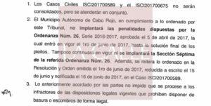 Tribunal de Mayagüez da a conocer resolución y orden sobre el caso de las bolsas anaranjadas (Documento)
