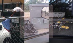 """La nueva modalidad en Cabo Rojo… Echan la basura en """"tangones"""" privados de comercios para no comprar las bolsas anaranjadas"""