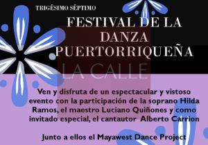 """37mo Festival de la Danza Puertorriqueña este domingo """"libre de costo"""" en el Teatro Yagüez"""