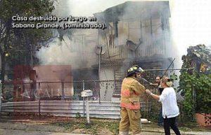 Piden ayuda para víctimas de incendio de ayer en Sabana Grande
