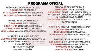 Itinerario de las Fiestas de Pueblo en San Germán