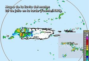 Hasta las 5:45 p.m.: Advertencia de inundaciones para Hormigueros, San Germán, Sabana Grande y otros pueblos de la mitad oeste de Puerto Rico