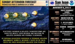 Advertencia de inundaciones esta tarde para Mayagüez y pueblos del Oeste