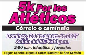 Este domingo el Primer 5k por los Atléticos de San Germán