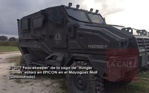 "De la saga de Hunger Games… Llega al EPICON del Mayagüez Mall el ""SJ-7 Peacekeeper Assault Transport"""