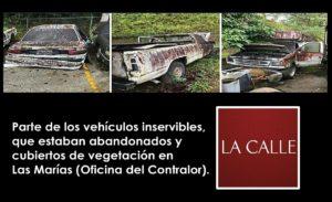 Contralor señala pago de demanda por discrimen político y vehículos municipales abandonados en Las Marías