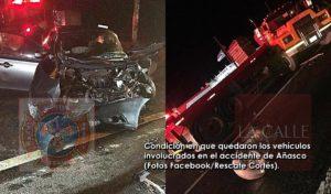 Sigue grave pasajero de carro involucrado en choque esta madrugada en Añasco