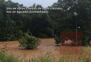 Sin identificar mujer arrastrada esta tarde por la corriente de una quebrada en Aguada