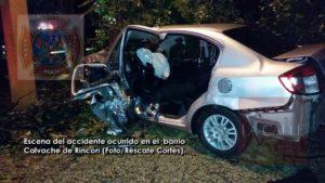 Mujer resulta herida en aparatoso accidente ocurrido en Rincón