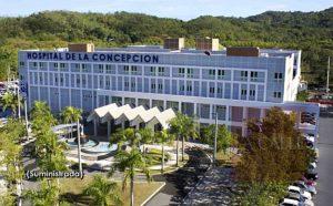 Personal del Hospital de la Concepción colaborando con pesquisa policíaca