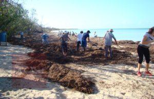 Comunidad le devuelve la belleza a la playa El Combate (Fotos)