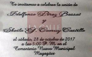 """Exclusiva: ¡Insólito! Una """"boda sepulcral""""… Celebran una boda este sábado en el Cementerio Municipal de Mayagüez (Fotos)"""