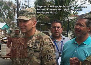 """General Buchanan en Cabo Rojo… Con los """"días contados"""" presencia militar por huracán María en la Isla"""