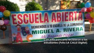 Feliz regreso a sus aulas de los estudiantes de la escuela Miguel A. Rivera de Hormigueros
