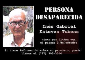 Desde el pasado 2 de octubre… Reportan anciano desaparecido en Añasco