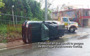 Muere conductor de guagua accidentada hoy en Aguadilla