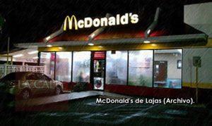 Solitario pillo asalta anoche restaurante McDonald's de la 116 en Lajas